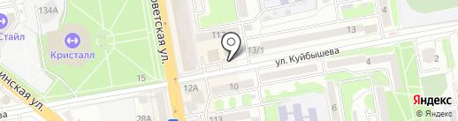 Киоск по продаже яиц и круп на карте Тамбова