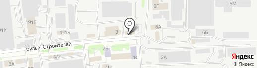 Авартис на карте Тамбова