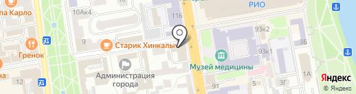 Отделение почтовой связи №15 на карте Тамбова