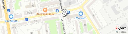 Ростов-рыба на карте Тамбова