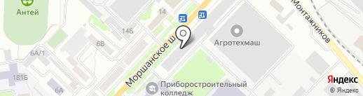 Викатекс на карте Тамбова