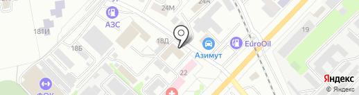 Магистраль на карте Тамбова