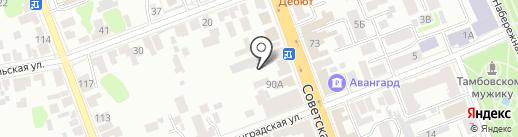 Жилищно-эксплуатационное управление-3 на карте Тамбова