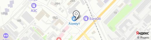 Азимут Газель на карте Тамбова