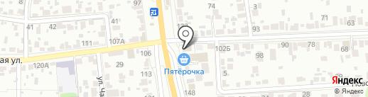 Принт на карте Тамбова