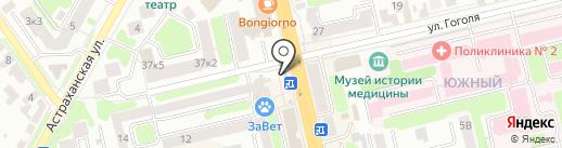 Донченко на карте Тамбова
