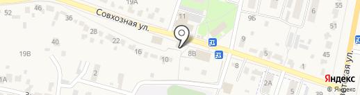 Алмаз на карте Красненькой