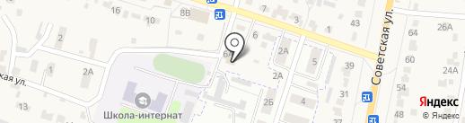 Донское на карте Красненькой