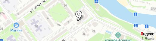 Набережная 22, ТСЖ на карте Тамбова