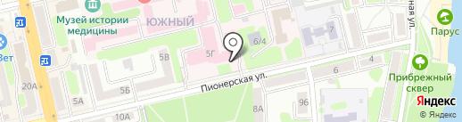 Тамбовское главное бюро медико-социальной экспертизы на карте Тамбова