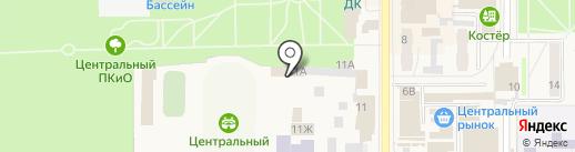 Центральный на карте Котовска