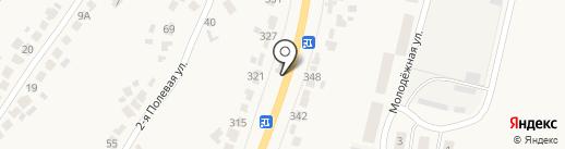 Павильон на Молодёжной на карте Донского