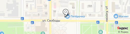 Магазин окон и дверей на карте Котовска