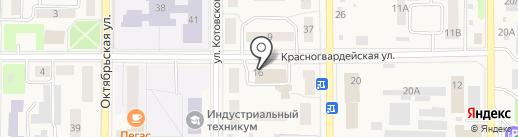 Магазин сантехники на карте Котовска