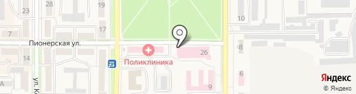 Городская больница г. Котовска на карте Котовска