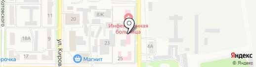 Станция скорой помощи г. Котовска на карте Котовска