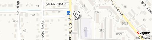 Перекресток на карте Котовска