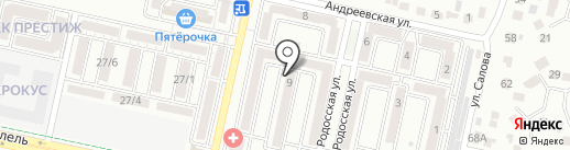 Пивная лавка купца Алафузова на карте Ставрополя