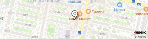 Палессе на карте Ставрополя