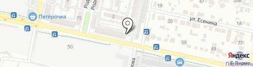 Магазин пива и раков на карте Ставрополя