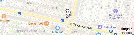 Мальвина на карте Ставрополя