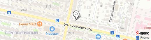 Луна на карте Ставрополя
