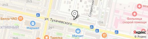 Ремонтная мастерская на карте Ставрополя