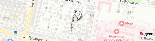 Петровские ряды на карте Ставрополя