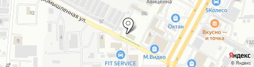 Торгово-установочный центр евроавтостекол на карте Ставрополя