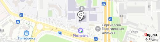 Северо-Кавказский федеральный университет на карте Ставрополя