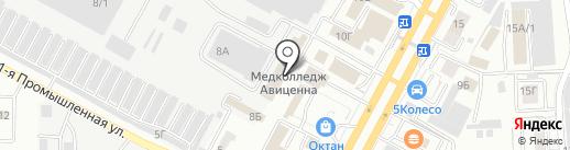 Ставропольский институт непрерывного медицинского и фармацевтического образования на карте Ставрополя