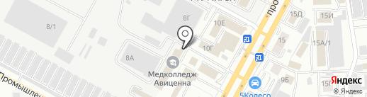 Проектное ремонтно-реставрационное объединение на карте Ставрополя