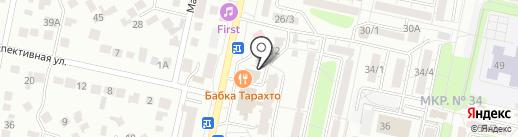 Адвокатский кабинет Двалишвили Г.Г. на карте Ставрополя