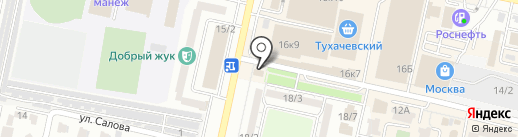Берген на карте Ставрополя