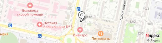 А.Н. на карте Ставрополя