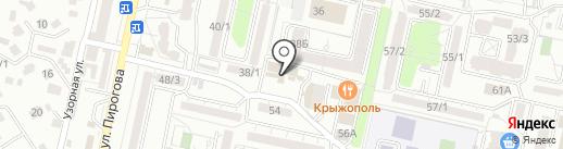 Пенный Причал на карте Ставрополя