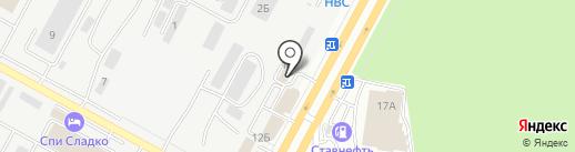 Армата на карте Ставрополя