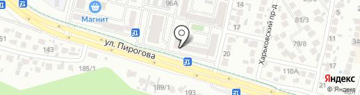 Пивчанский на карте Ставрополя