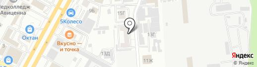 Рутения на карте Ставрополя