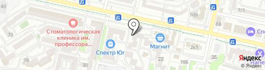 Пивкофф на карте Ставрополя