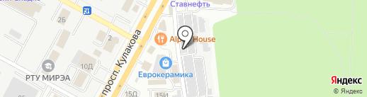 Эврика на карте Ставрополя