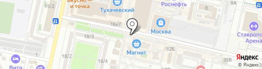 Антураж на карте Ставрополя