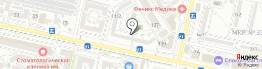Рябинка на карте Ставрополя