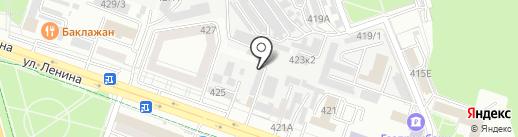 Служба тонирования автостекол и бронирования автомобиля на карте Ставрополя