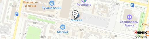 Женави на карте Ставрополя