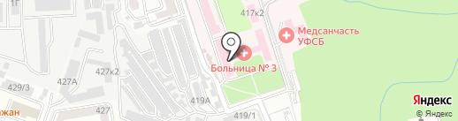 Городская клиническая больница №3 на карте Ставрополя