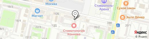Птичка на карте Ставрополя
