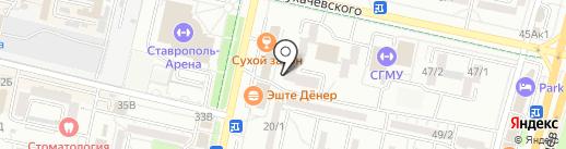 Респект Жалюзи на карте Ставрополя