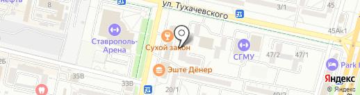 Ловда на карте Ставрополя