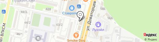 Марал на карте Ставрополя